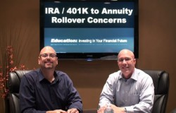 IRA 401k to Annuity Rollover Concerns