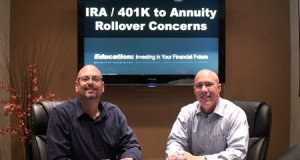 IRA / 401k to Annuity Rollover Concerns