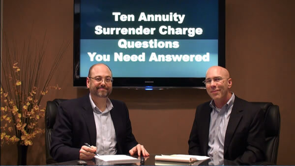 Annuity Surrender Charges<br>Top Ten Questions & Answers
