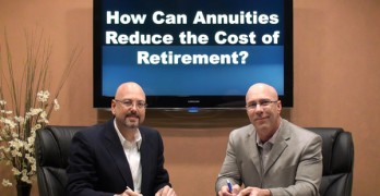 How can annuities reduce the cost of retirement