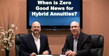 When is Zero Good News for Hybrid Annuities