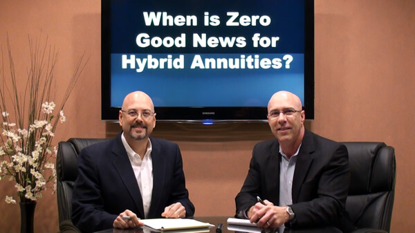 When is Zero Good News for Hybrid Annuities?