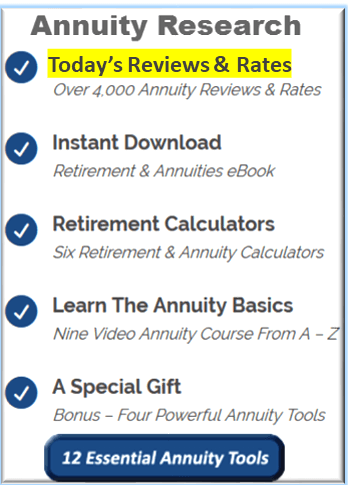 Annuity Rates and Reviews Research Tools
