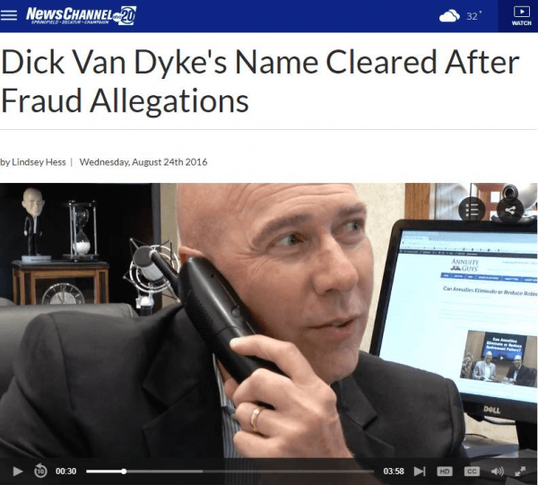 Dick Van Dyke Innocent of Fraud!